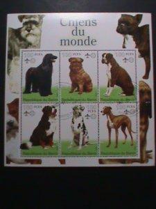 BENIN-STAMP-2002 FAMOUS DOGS CTO- MNH STAMP SHEET RARE