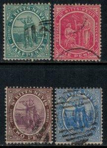 St. Kitts-Nevis #12,4-5,7 CV $13.10