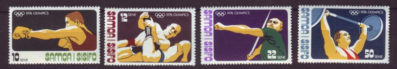 J19641 Jlstamps 1976 samoa set mnh #438-41 sports