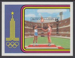 St Lucia 520 Olympics Souvenir Sheet MNH VF
