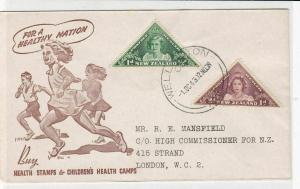 new zealand 1943 stamps cover ref 19915