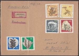 EAST GERMANY 1973 Registered cover - Nice franking -........................B687