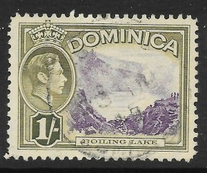DOMINICA SG106 1938 1/= VIOLET & OLIVE-GREEN USED