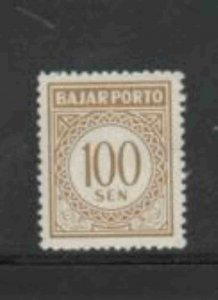 INDONESIA #J80 1962 100s POSTAGE DUE MINT VF LH O.G