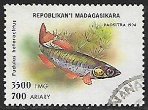 Madagascar # 1198 - Mummichog - used....(BRN30)