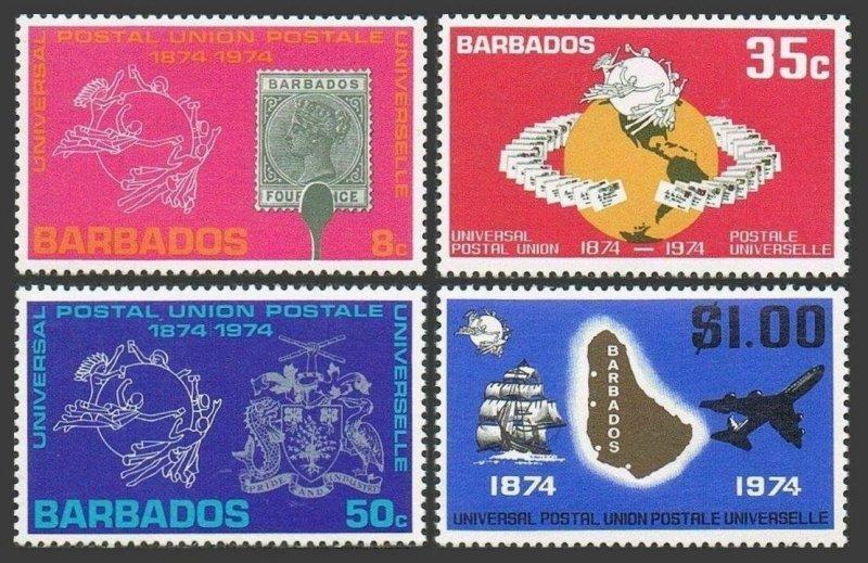 Barbados MNH 412-5 Centenary Of UPU 1974