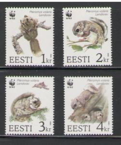 Estonia Sc 270-3 1994 Squirrels WWF stamps mint NH