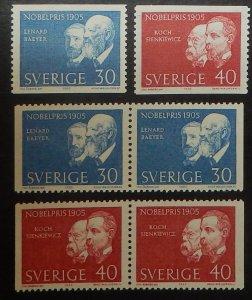 Sweden 689-92. 1965 Nobel Prize, NH