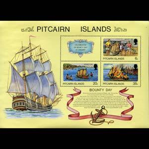 PITCAIRN 1978 - Scott# 176a S/S Bounty NH
