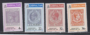 Gibraltar # 485-488, Early Gibraltar Stamps, NH, 1/2 Cat.