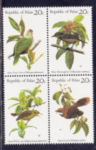 Palau # 5-8, Palau Birds, Block of Four, Mint NH