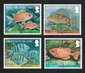 Ascension Reef Fish 1st series 4v SG#1064-1067