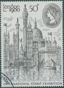 Great Britain 1980 SG1118 50p QEII London Stamp Exhibition FU
