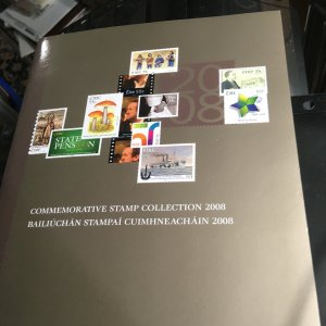 Ireland 2008 Commem Stamp Collection 45NHStamps P.O.Folder Ships, Music, Movies