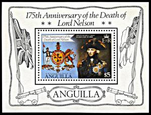 Anguilla 433, MNH, 175th Anniversary of Death of Lord Nelson souvenir sheet