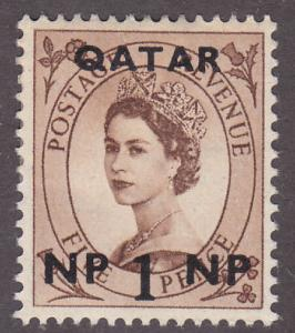 Qatar 1 Queen Elizabeth II O/P 1957