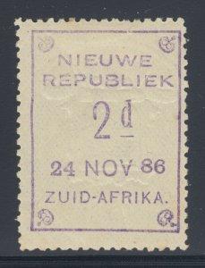 New Republic SG 49a, Sc 38a, MOG.1886 2p violet, 24 NOV 86 rare date, Cert.