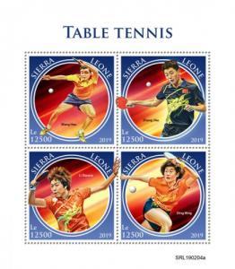 SIERRA LEONE - 2019 - Table Tennis - Perf 4v Sheet - MNH