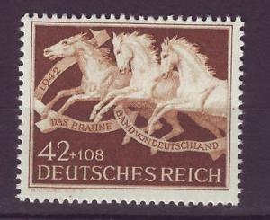 J6070 JL stamps 1942 nazi WWII race horses mnh set/1 #205