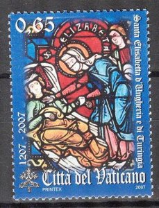 Vatican 2007 St. Elisabeth of Thuringen MNH