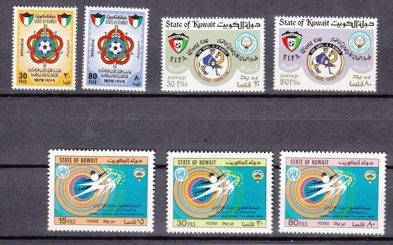 J26855  kuwait sets mh #792-3,892-3,915-7 sports