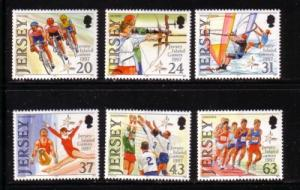 Jersey Sc  800-5 1997 Island Games stamp set mint NH
