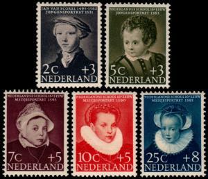 ✔️ NETHERLANDS 1956 - CHILD WELLFARE KINDERZEGELS - NVPH 683/687 ** MNH OG