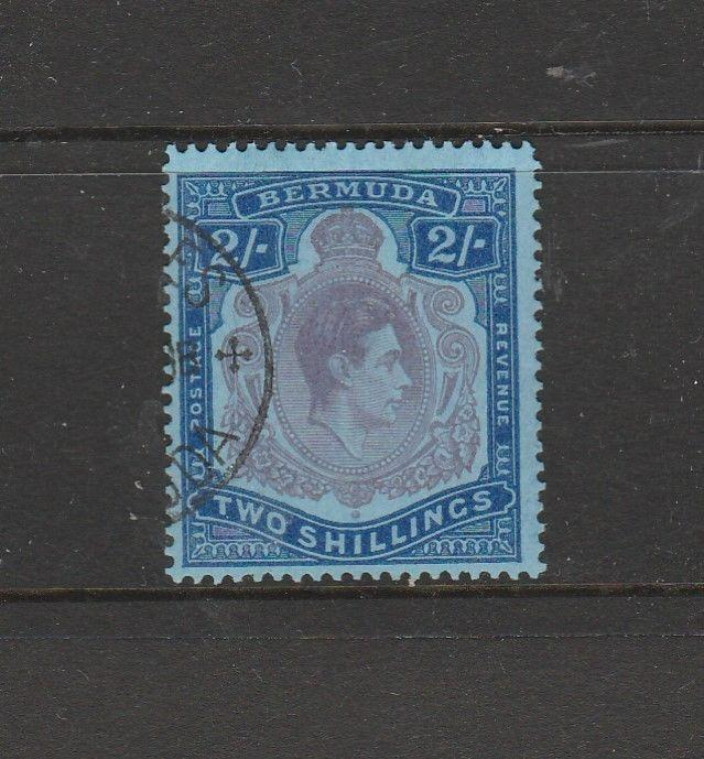 Bermuda 1938/53 2/- P13, Dull Purple & Blue VFU SG 116e