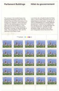 Canada - 1986 34c Pane of 25 Complete Booklet #BK89A