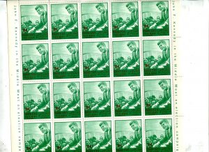 South Arabia  Perf sheets of 20 stamps each Kennedy Cv 92 euro 8116
