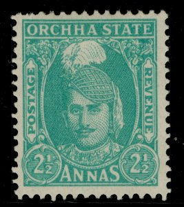 INDIAN STATES - Orchha GVI SG38, 2½a turquoise-green, M MINT.