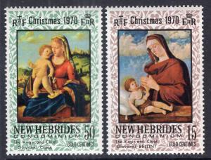 New Hebrides British 142-143 Christmas MNH VF