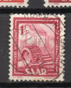 SAAR; (Saargebiet) 1949-51 pictorial issue fine used 1Fr. value
