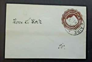 Cairo Egypt Mourning Cover Embossed Egyptian Stamp Cancelled Over It