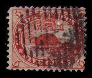 1859 CANADA RARE VINTAGE CLASSIC 5c BEAVER #15 FINE USED CAT $20.