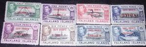 Falkland islands Dependencies  George VI with overprints of South Orknys