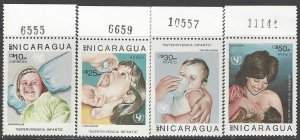 Nicaragua 1588-91  MNH  Child's Welfare 1987