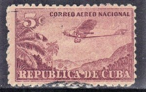 CUBA SC# C12  **USED** 1932  5c   AIRMAIL  SEE SCAN