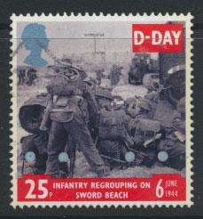 Great Britain SG 1827  Used  - D Day Anniversay
