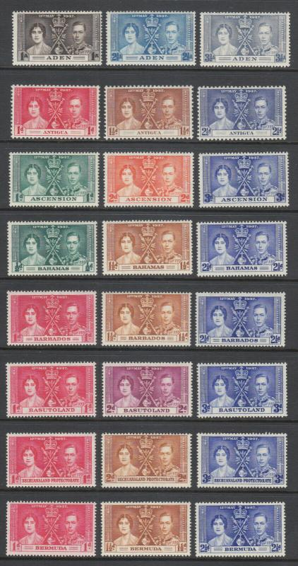 British Commonwealth, 1937 Coronation of KGVI, complete OMNIBUS set, 191 stamps