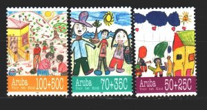 Aruba. 1995. 168-70. Happy childhood, children's drawings. MNH.