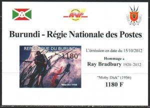 Burundi. 2012. black impression. Book Moby-Dick, Rhea Bradbury. MNH.