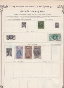 french guinea stamps sheet ref 11124