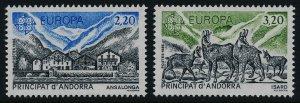 Andorra Fr 344-5 MNH EUROPA, Architecture, Animals