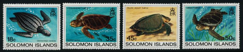 Solomon Islands 489-92 MNH Turtles