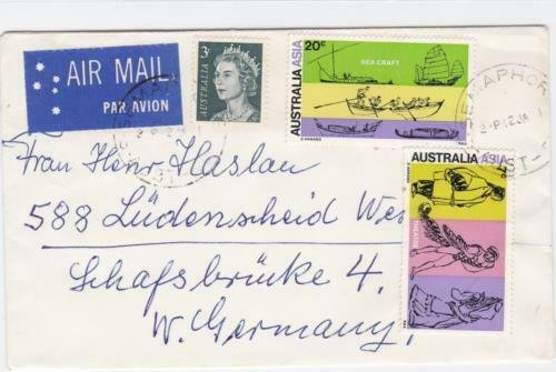 Australia  air mail  stamps cover R20410