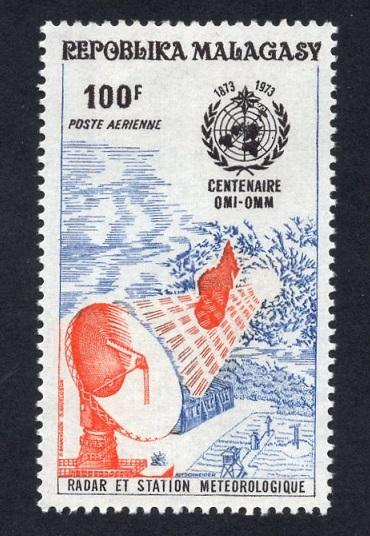 Malagasy Republic   #C116   MNH  1973  WMO  radar meterorological cooperation