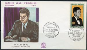 GABON 1964  JOHN F. KENNEDY  MEMORIAL FIRST DAY COVER