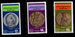 Mauritania Scott 412-414 MNH** UNESCO stamp set