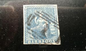 Barbados #6a used e194.3912